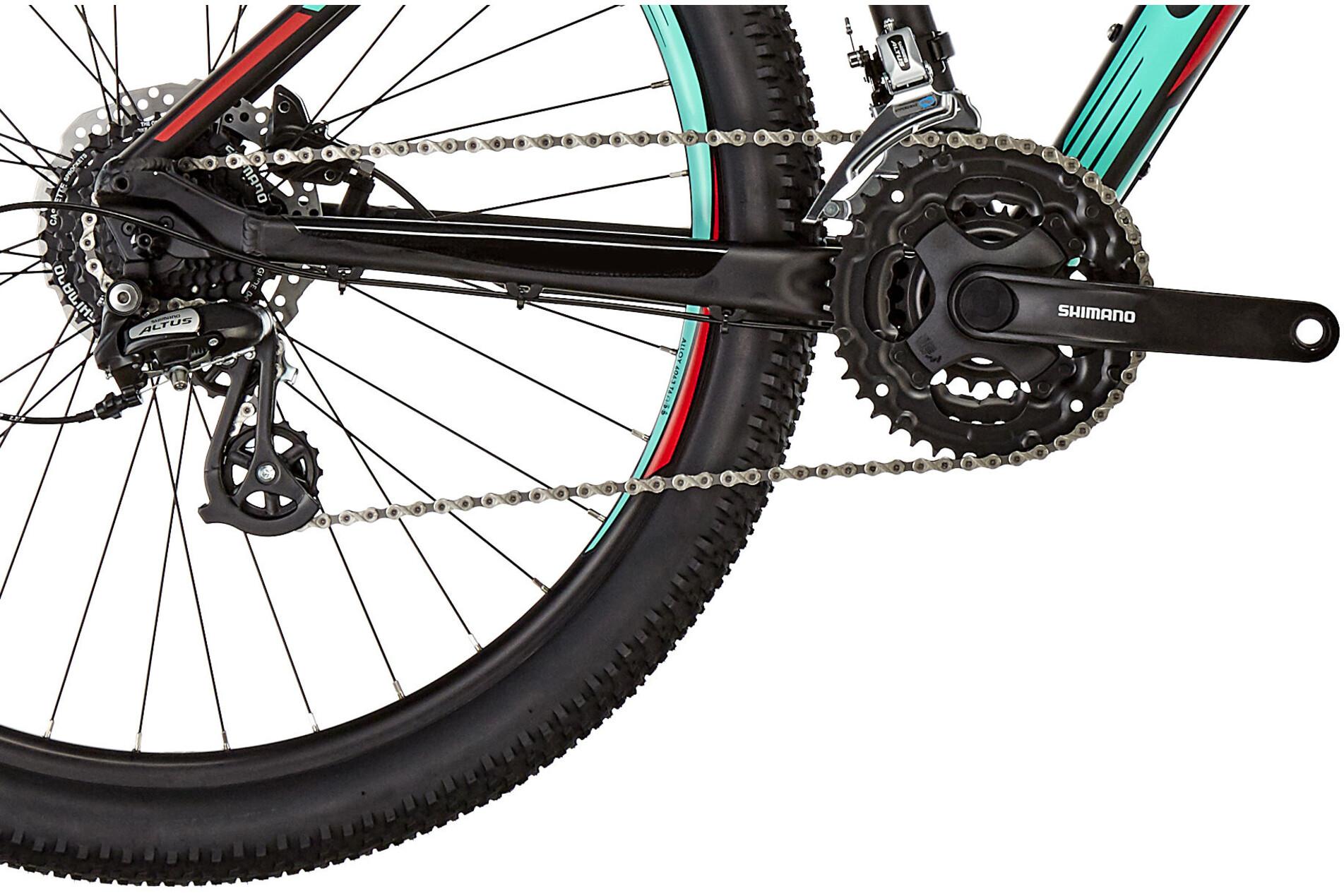 ORBEA MX 50 27,5 MTB Hardtail sort/turkis | Find cykeltilbehør på nettet | Bikester.dk